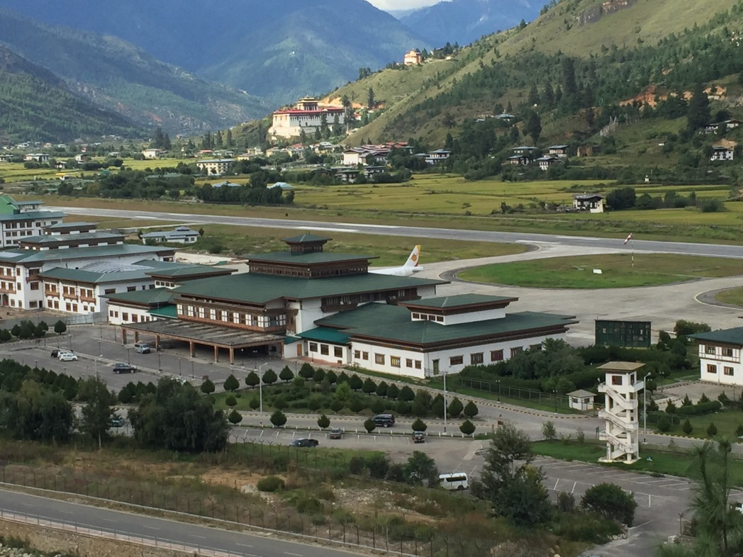 The lovely and unique Bhutan airport