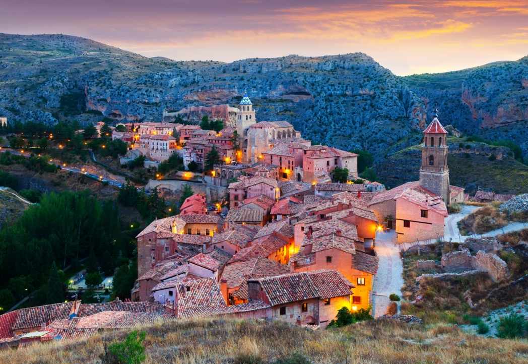 Albarracin in the evening, with a medieval glow to it