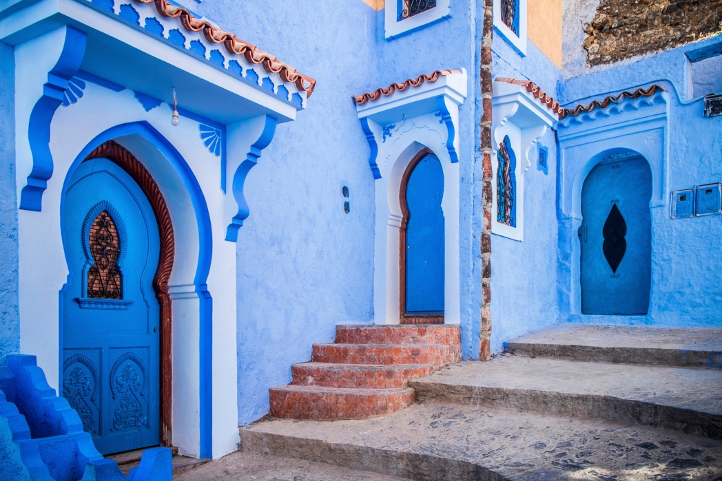 The photogenic blue city of Chefchaouen in Morocco