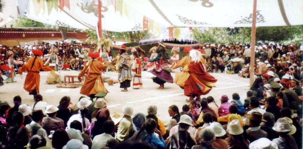 Dancing at the Saka Dawa festival