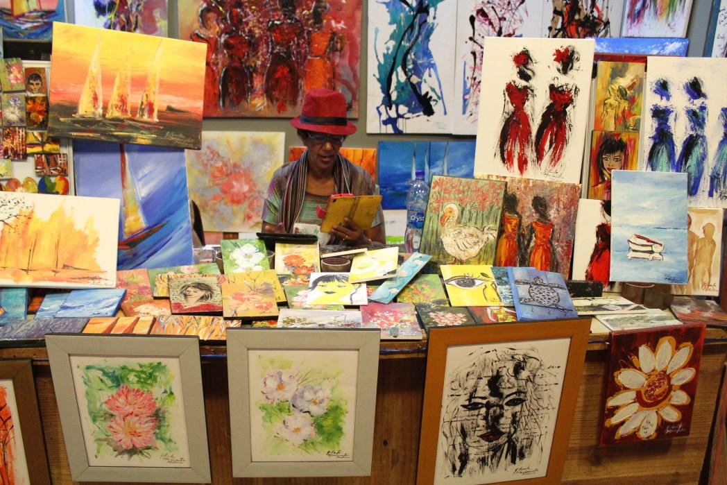 Local artist in Mauritius