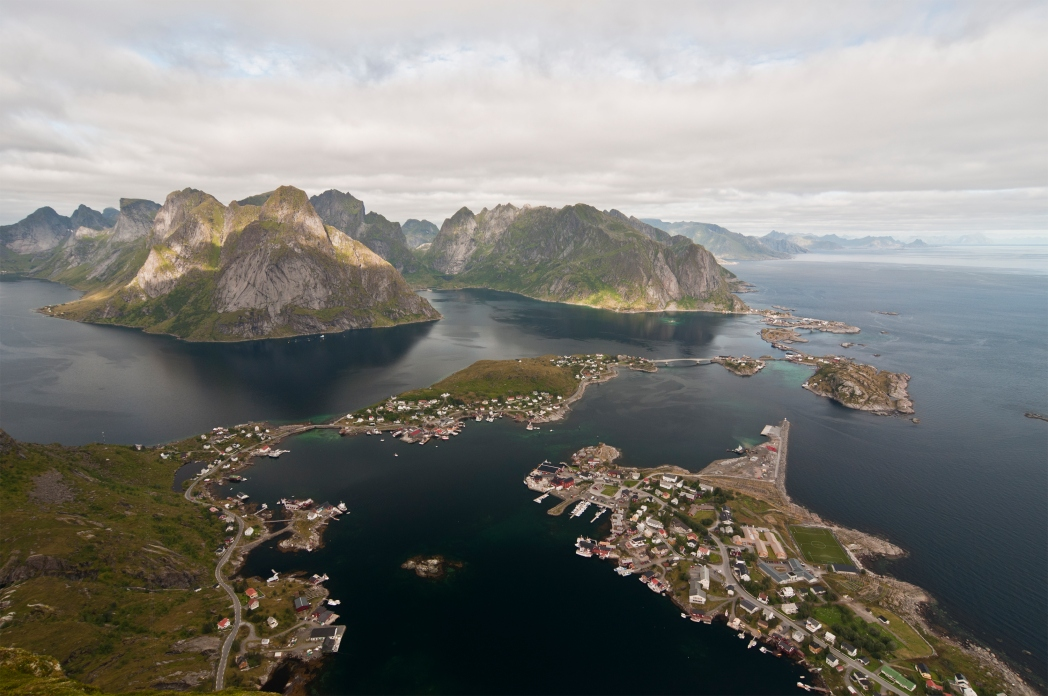 The interconnected Lofoten Islands