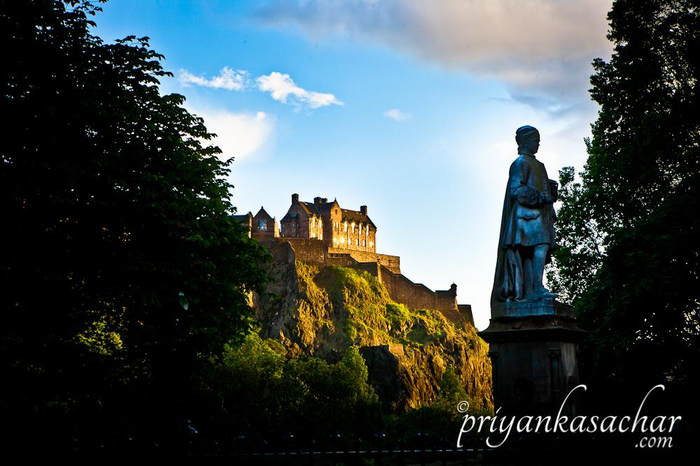 Edinburgh Castle on a sunny day by Priyanka Sachar