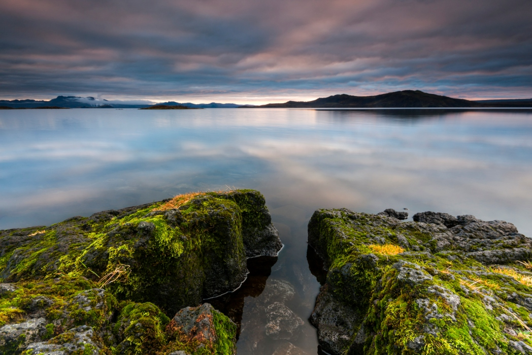 The beautiful waters of Thingvallavatn Lake in the National Park in Iceland